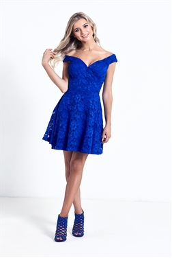 Sistaglam Martina Cobalt Skater Dress