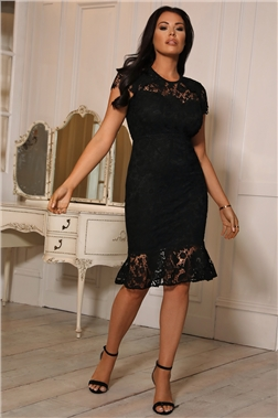 SISTAGLAM LOVES JESSICA WRIGHT JENNA BLACK DRESS