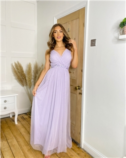 SISTAGLAM LEELA LILAC MAXI DRESS