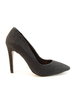 Jessica Wright Amelia Black Glitter Shoes