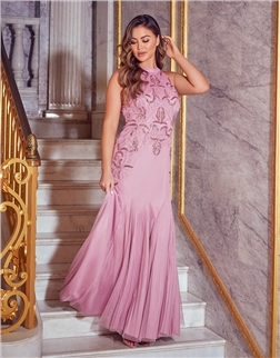 SISTAGLAM KYLEE LIGHT PINK MAXI DRESS